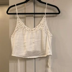 Free people white cropped top